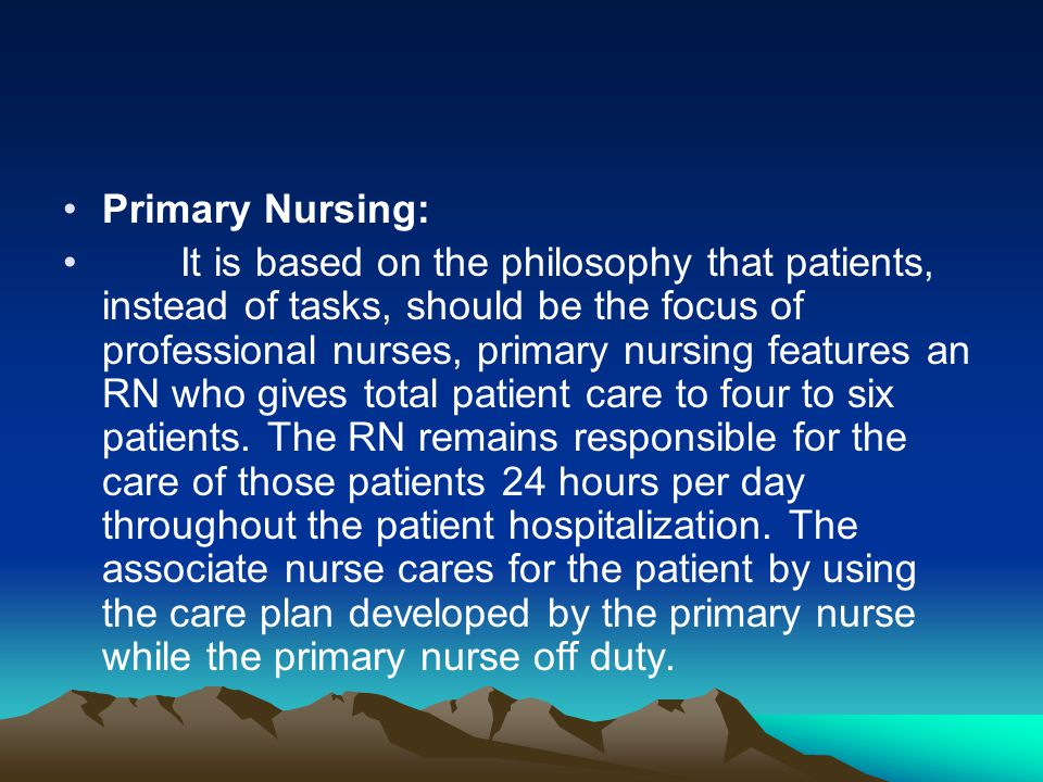 Primary Nursing:
