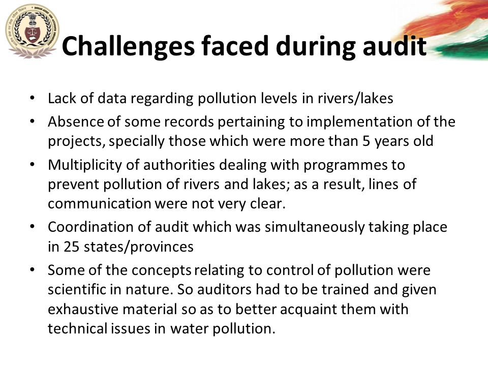Challenges faced during audit