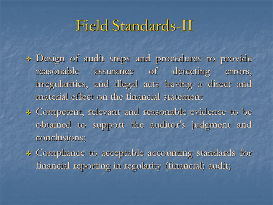 Field Standards-II