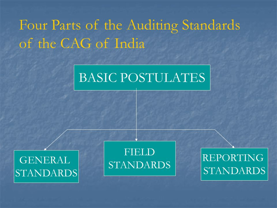 Four Parts of the Auditing Standards of the CAG of India