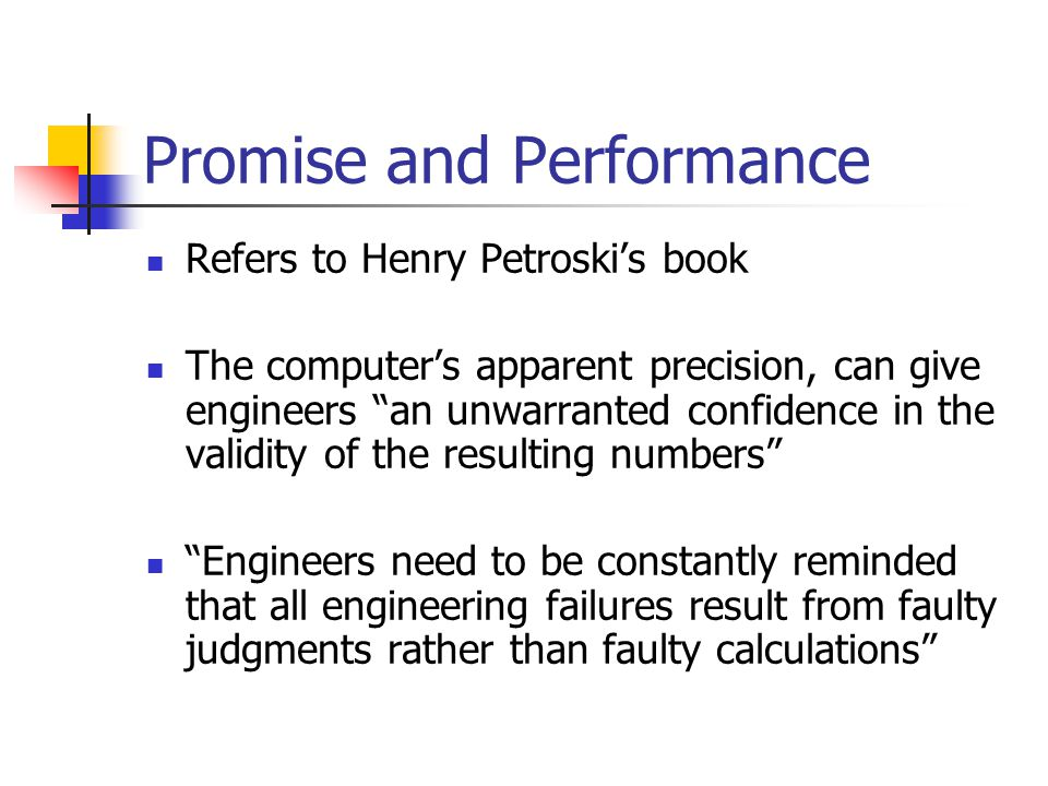 Promise and Performance