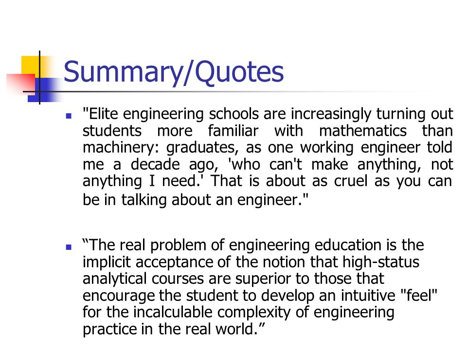 Summary/Quotes