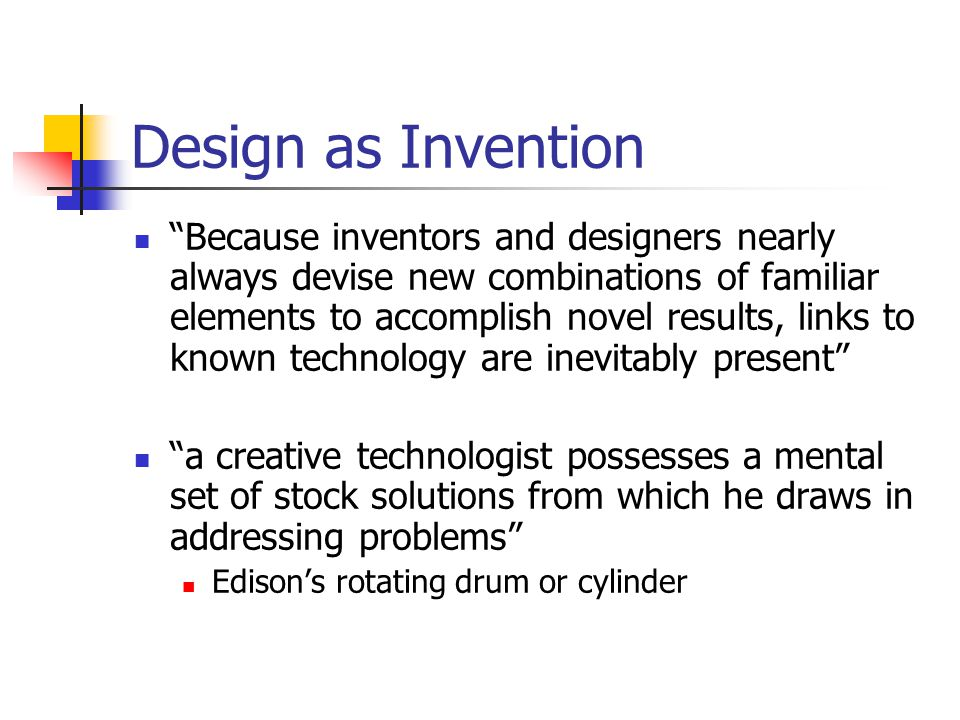 Design as Invention
