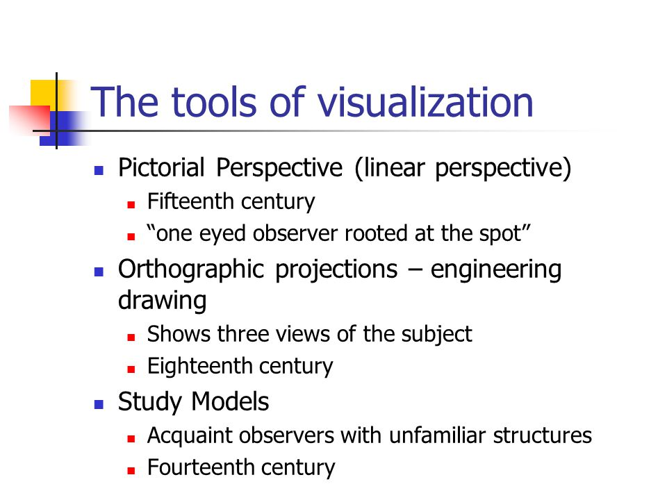 The tools of visualization