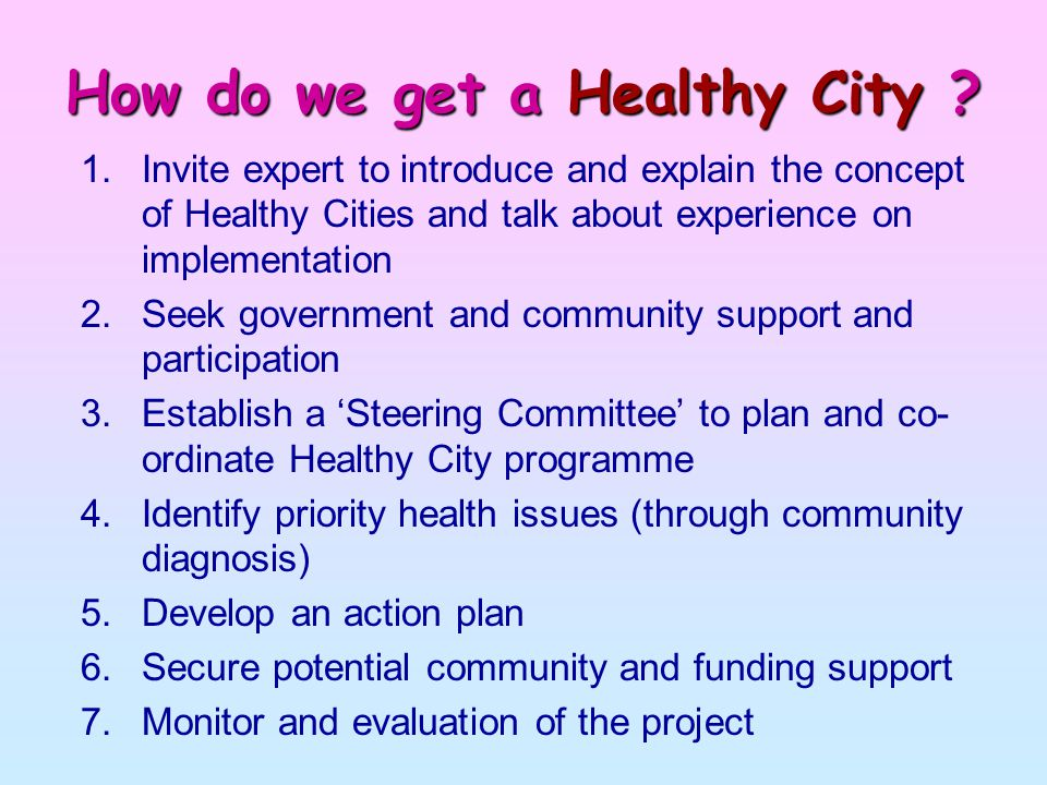 How do we get a Healthy City