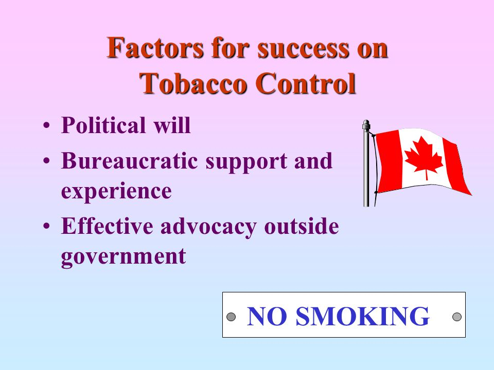 Factors for success on Tobacco Control
