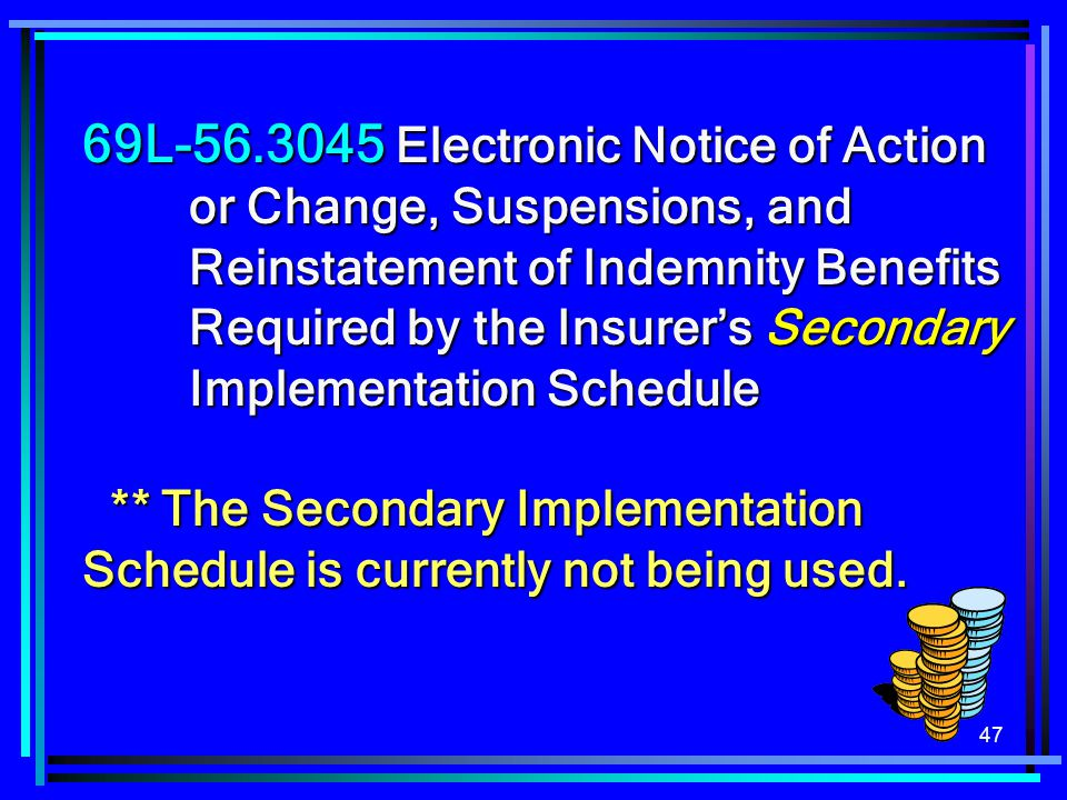 69L-56. 3045 Electronic Notice of Action. or Change, Suspensions, and