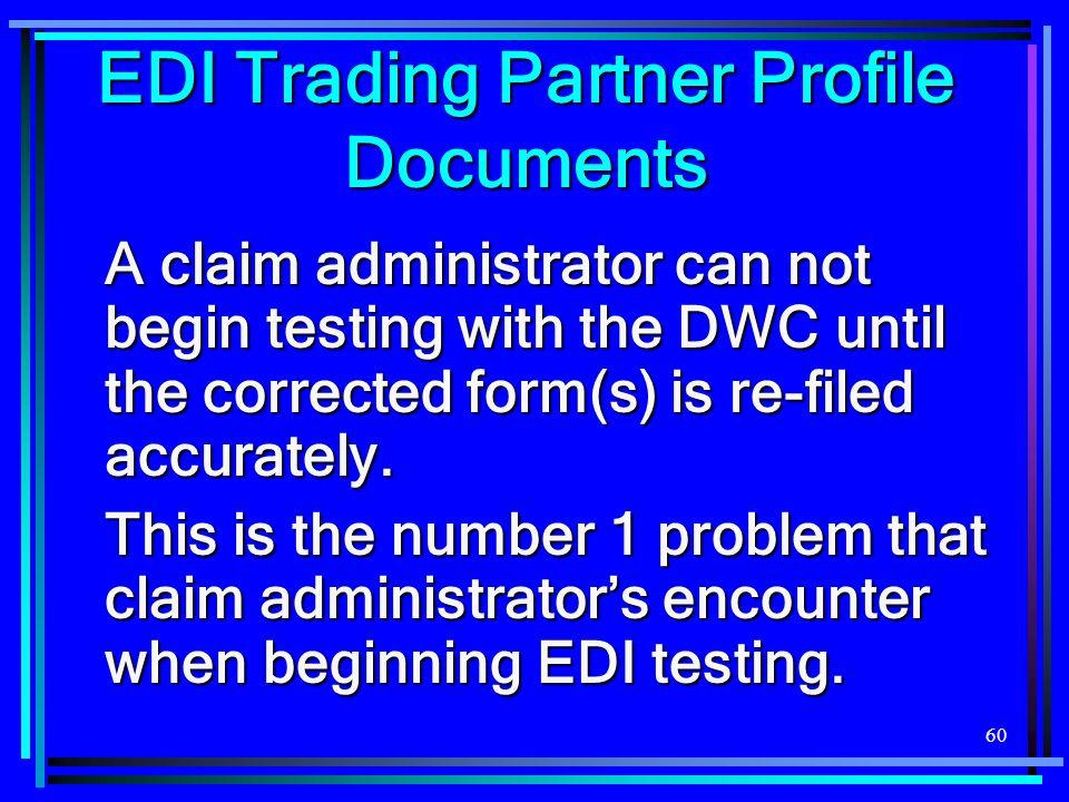EDI Trading Partner Profile Documents