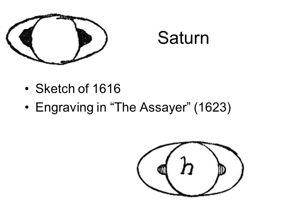 Saturn Sketch of 1616 Engraving in The Assayer (1623)