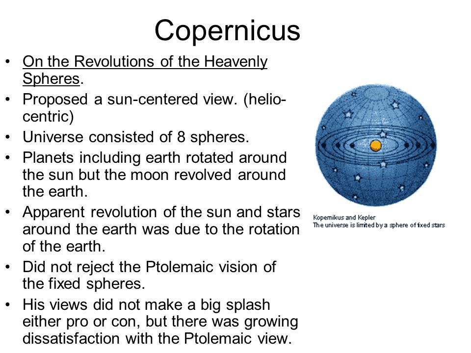 Copernicus On the Revolutions of the Heavenly Spheres.