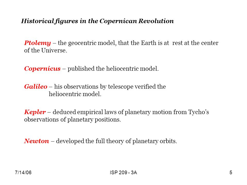 Historical figures in the Copernican Revolution