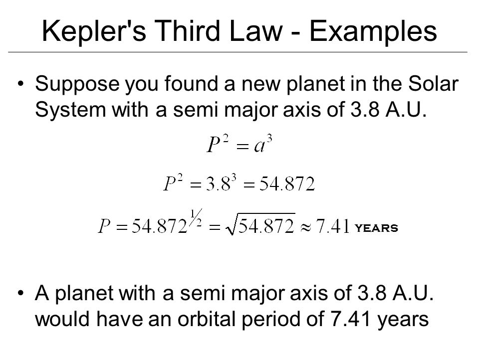 Kepler s Third Law - Examples