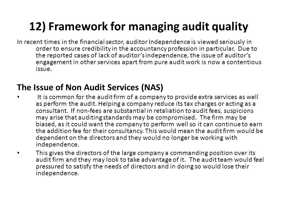 12) Framework for managing audit quality