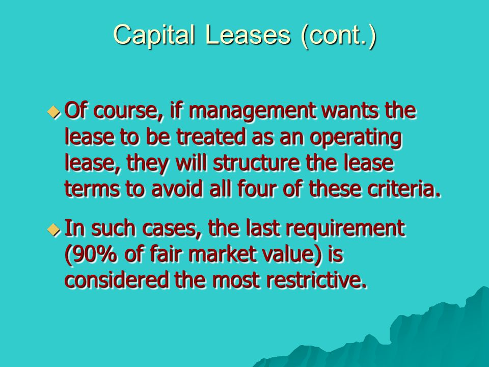 Capital Leases (cont.)