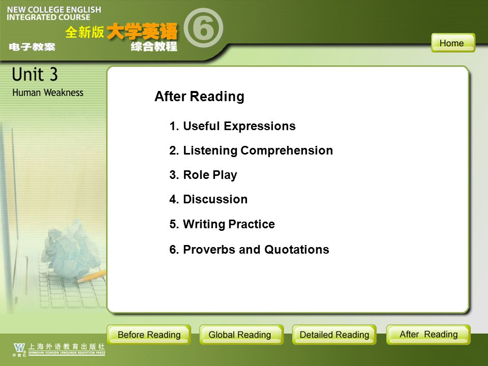 AR-Main After Reading 1. Useful Expressions 2. Listening Comprehension