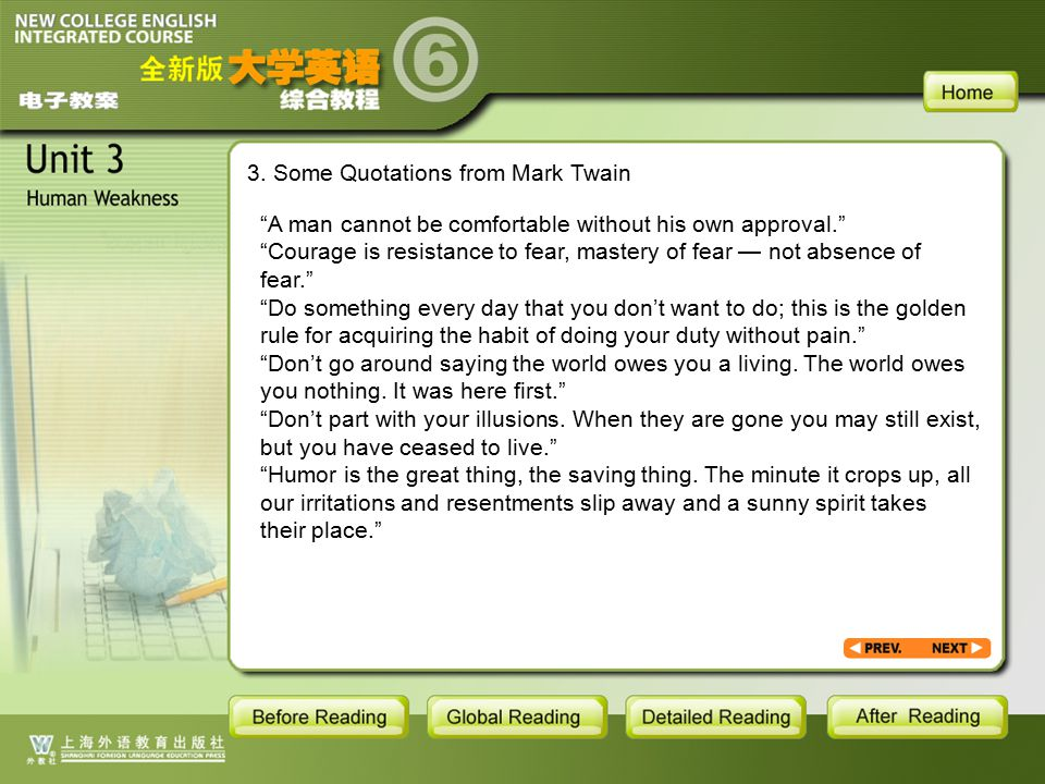 BR1- backgroud1.3.1 3. Some Quotations from Mark Twain