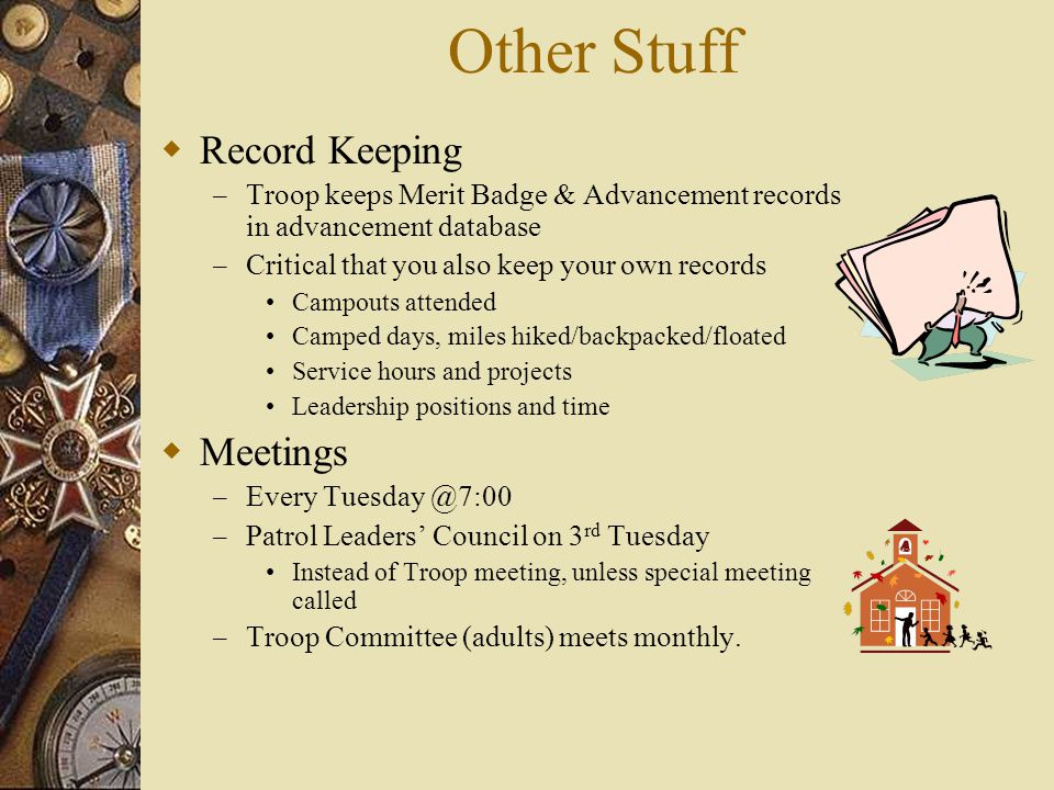 Other Stuff Record Keeping Meetings