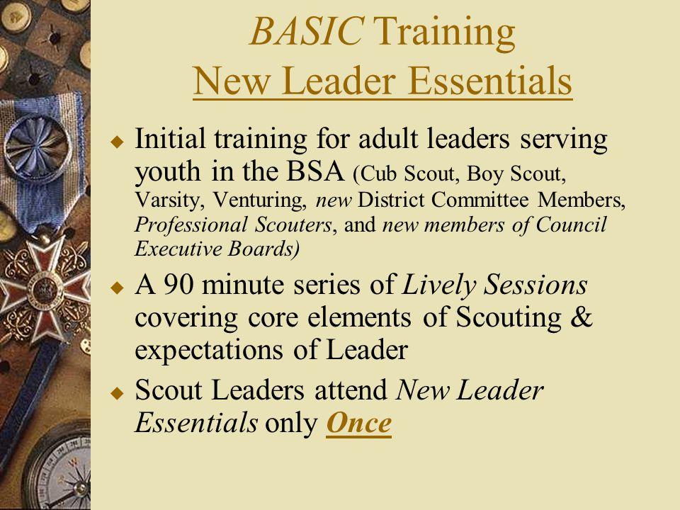 BASIC Training New Leader Essentials