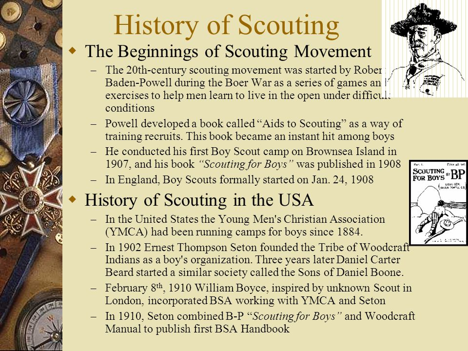 History of Scouting The Beginnings of Scouting Movement