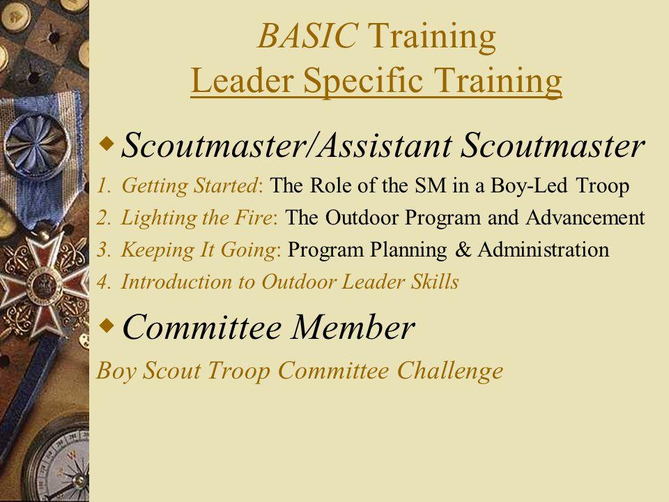 BASIC Training Leader Specific Training
