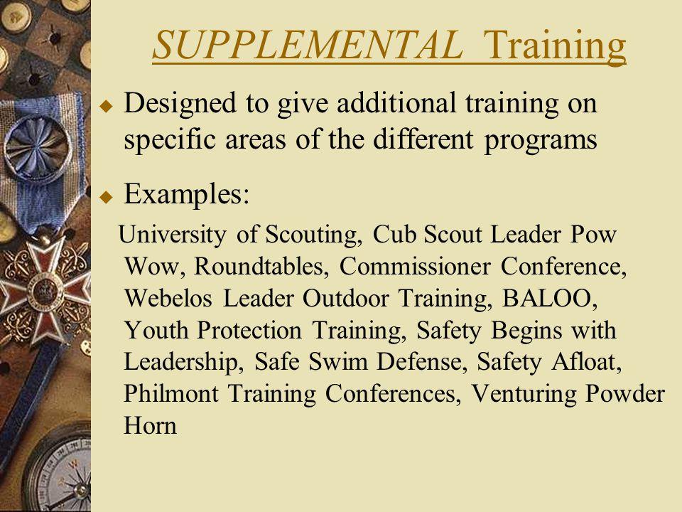 SUPPLEMENTAL Training