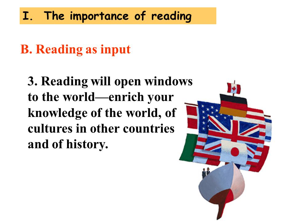 I. The importance of reading