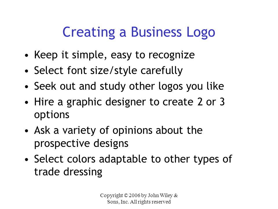 Creating a Business Logo