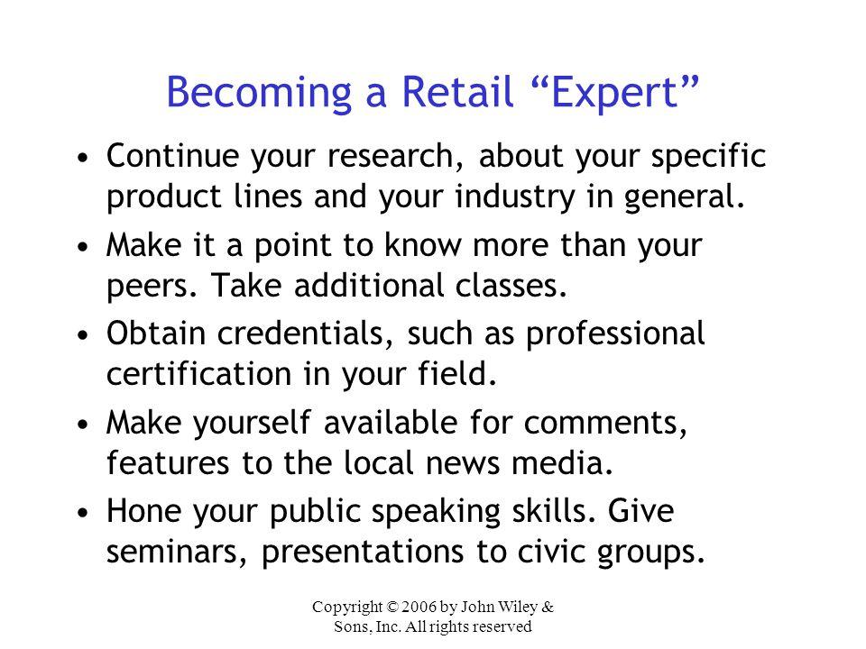 Becoming a Retail Expert