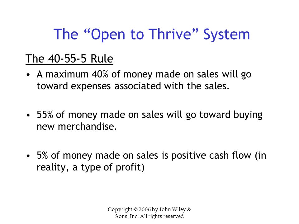The Open to Thrive System