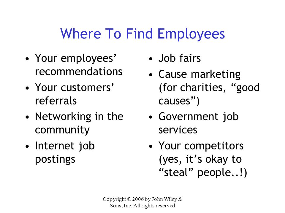 Where To Find Employees