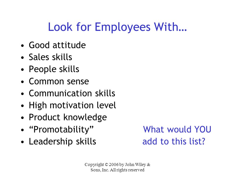 Look for Employees With…