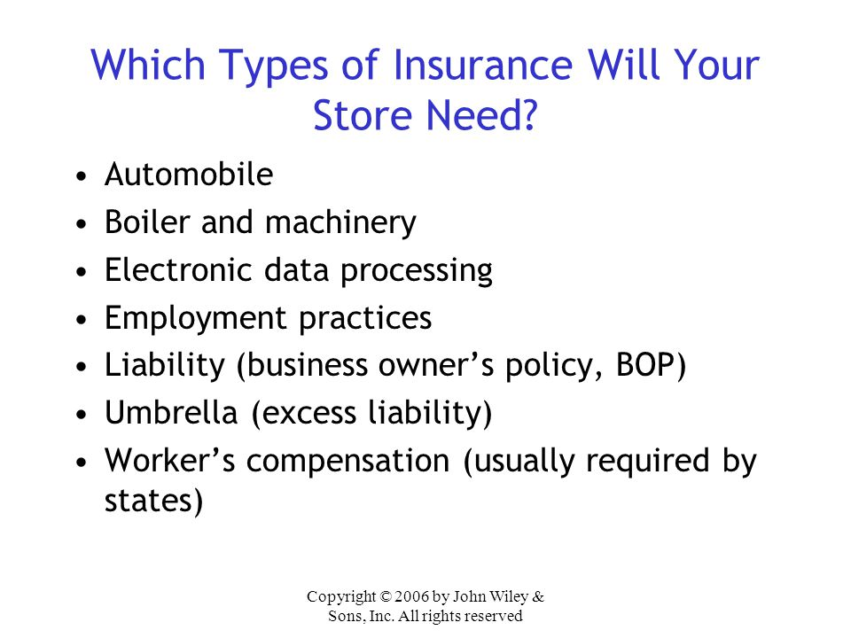 Which Types of Insurance Will Your Store Need