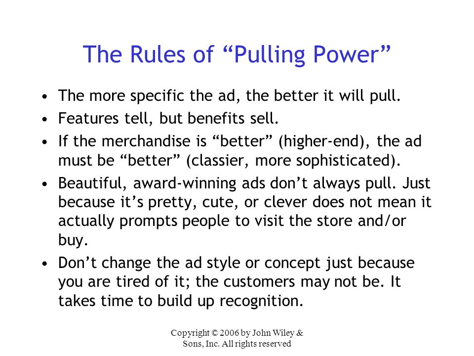 The Rules of Pulling Power