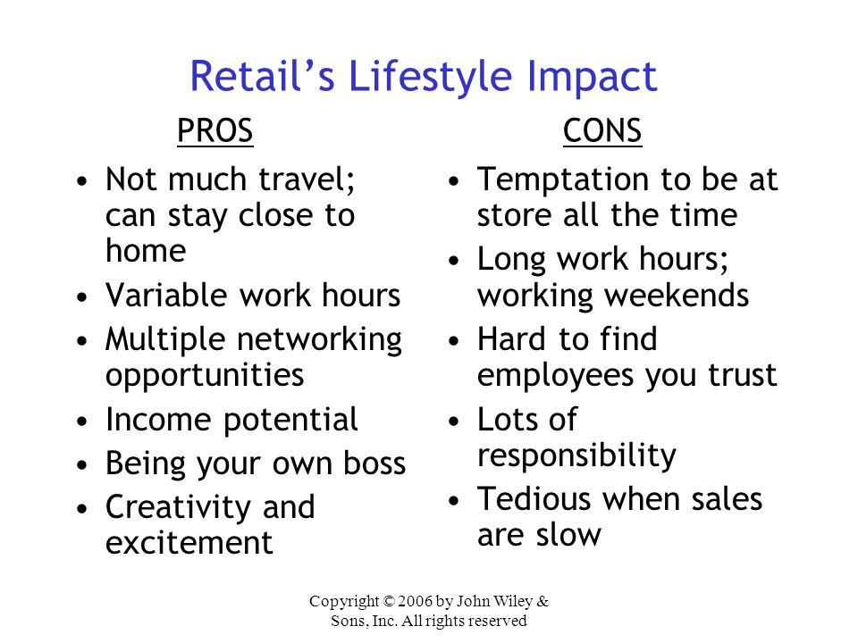 Retail's Lifestyle Impact PROS CONS