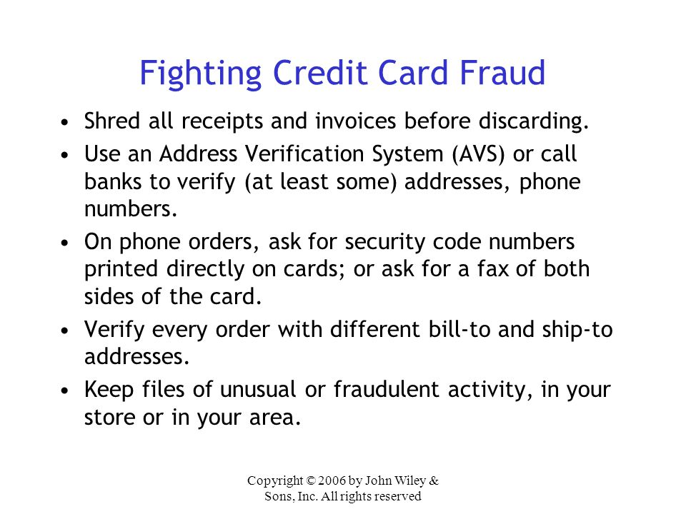 Fighting Credit Card Fraud