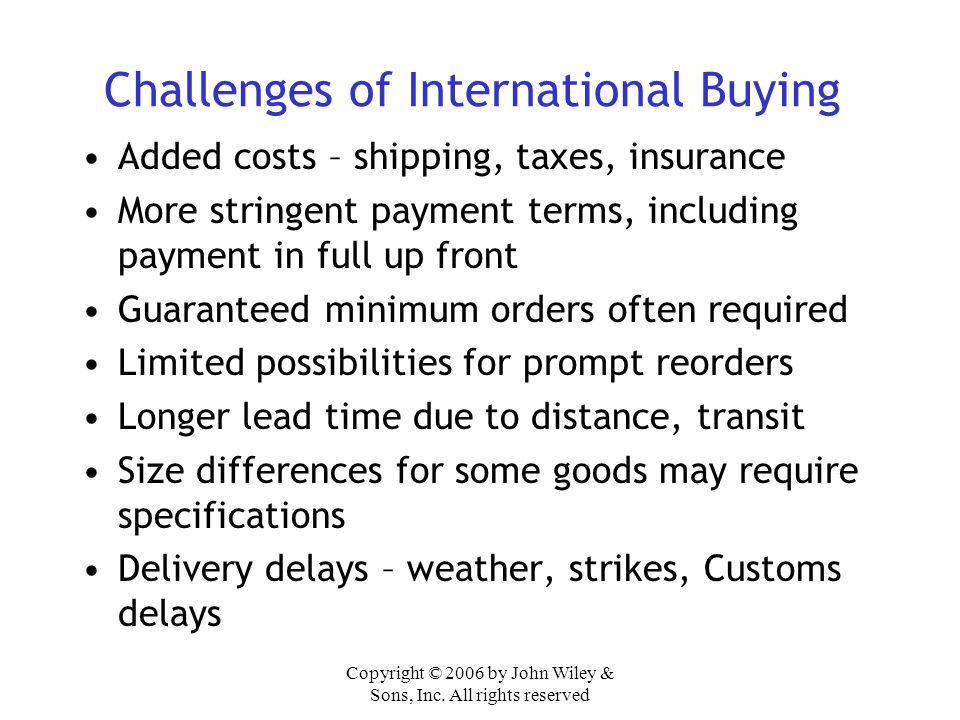 Challenges of International Buying