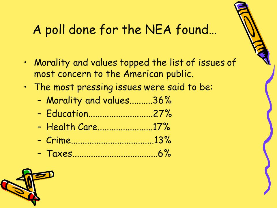 A poll done for the NEA found…