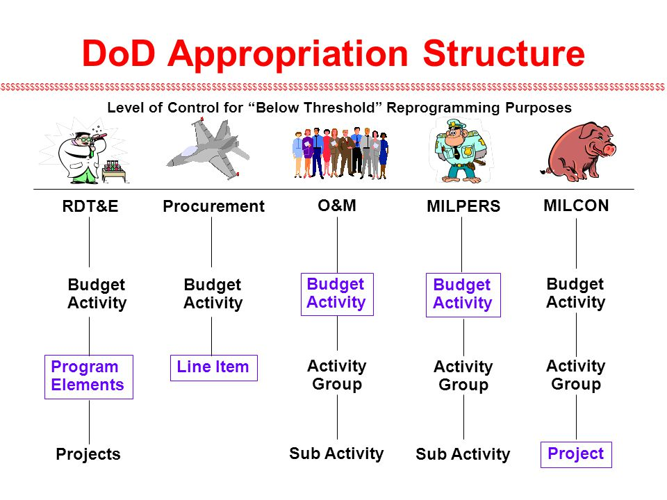 DoD Appropriation Structure