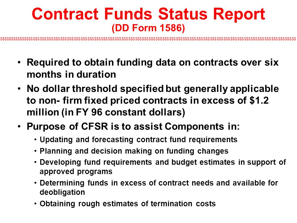Contract Funds Status Report