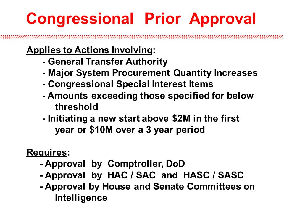 Congressional Prior Approval
