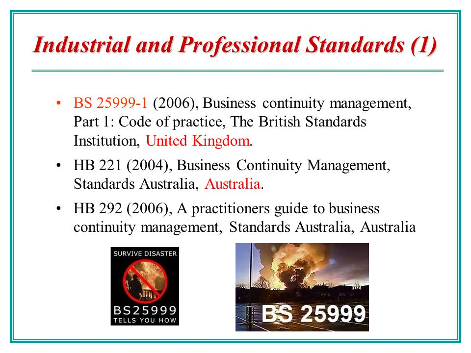 Industrial and Professional Standards (1)