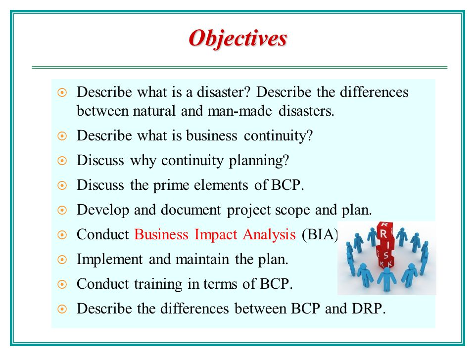 Objectives Describe what is a disaster Describe the differences between natural and man-made disasters.