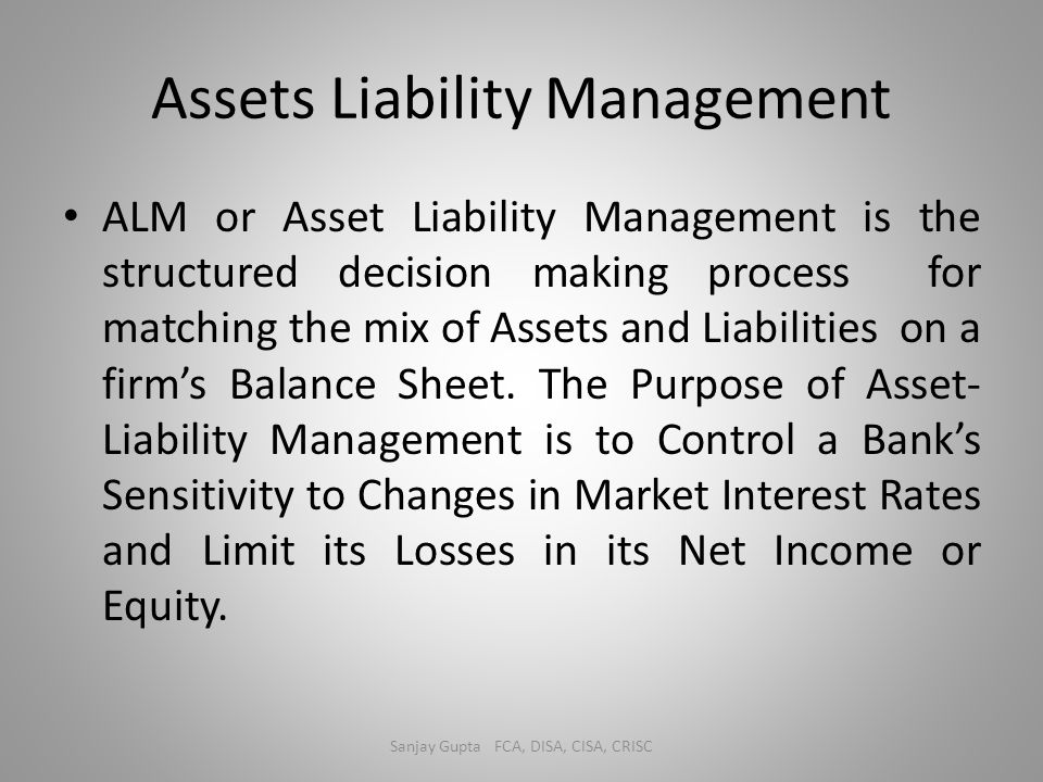 Assets Liability Management