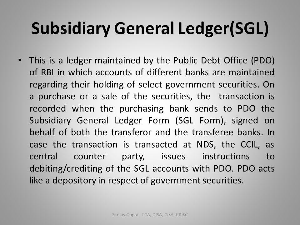 Subsidiary General Ledger(SGL)