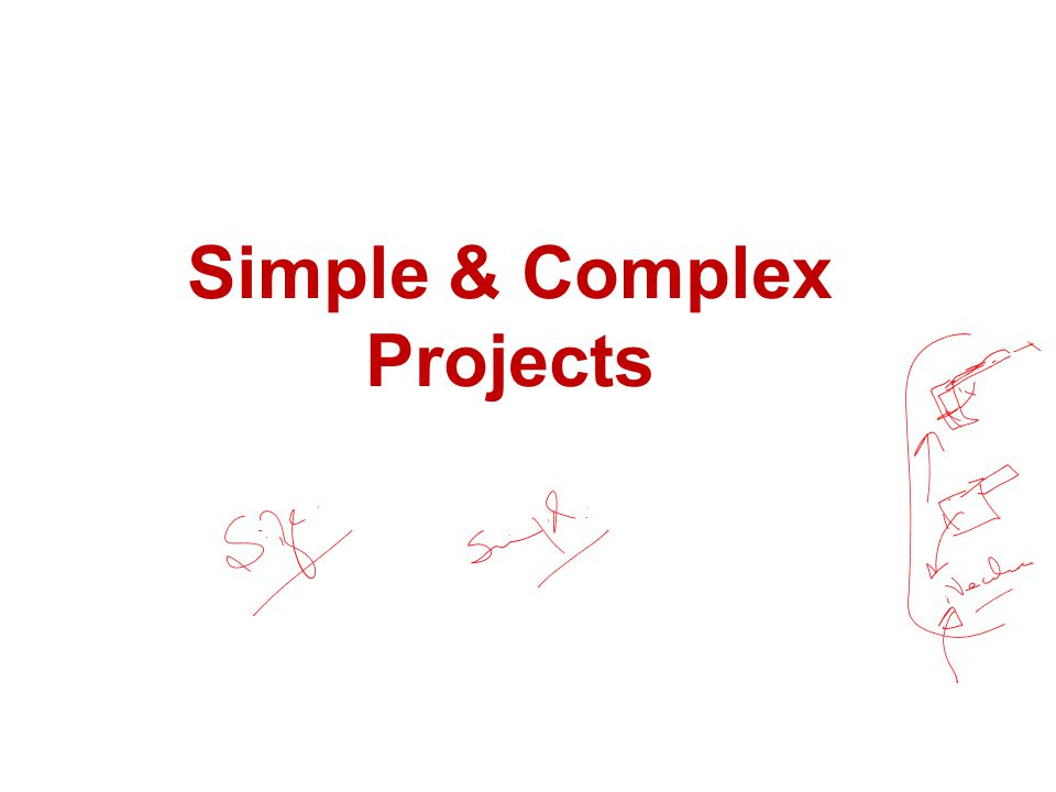 Simple & Complex Projects