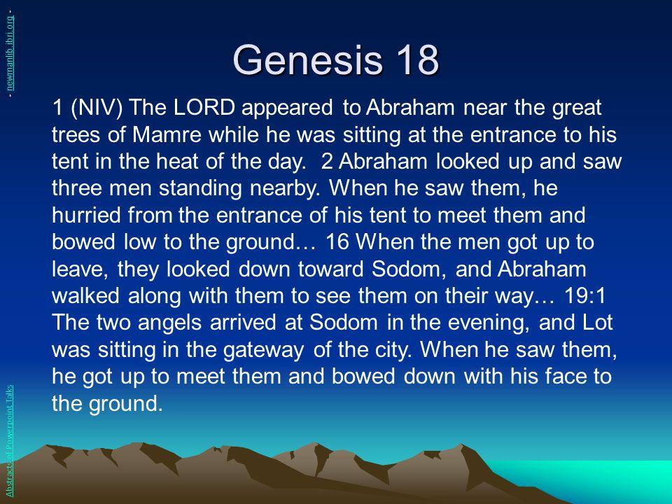 Genesis 18 - newmanlib.ibri.org -