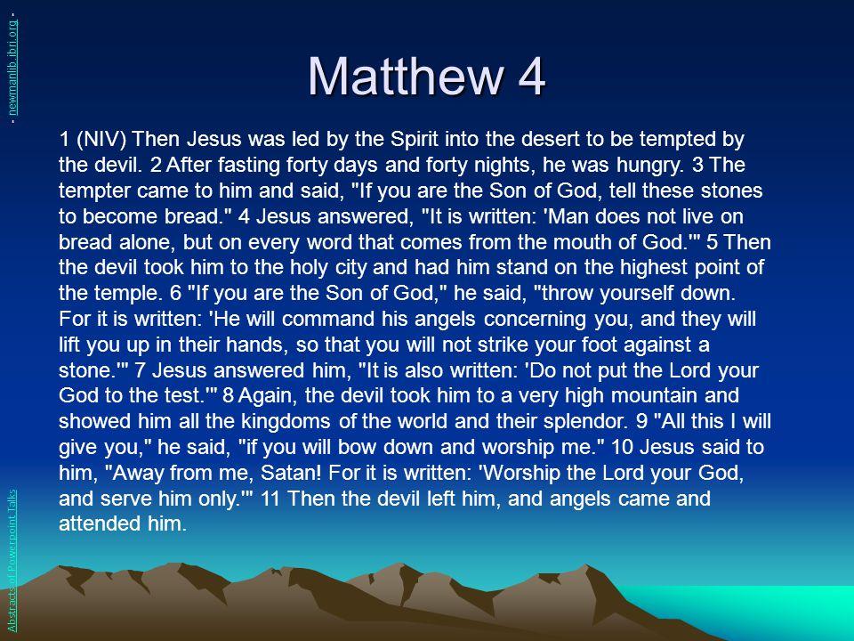 Matthew 4 - newmanlib.ibri.org -