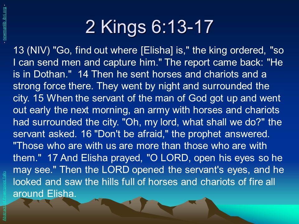 2 Kings 6:13-17 - newmanlib.ibri.org -