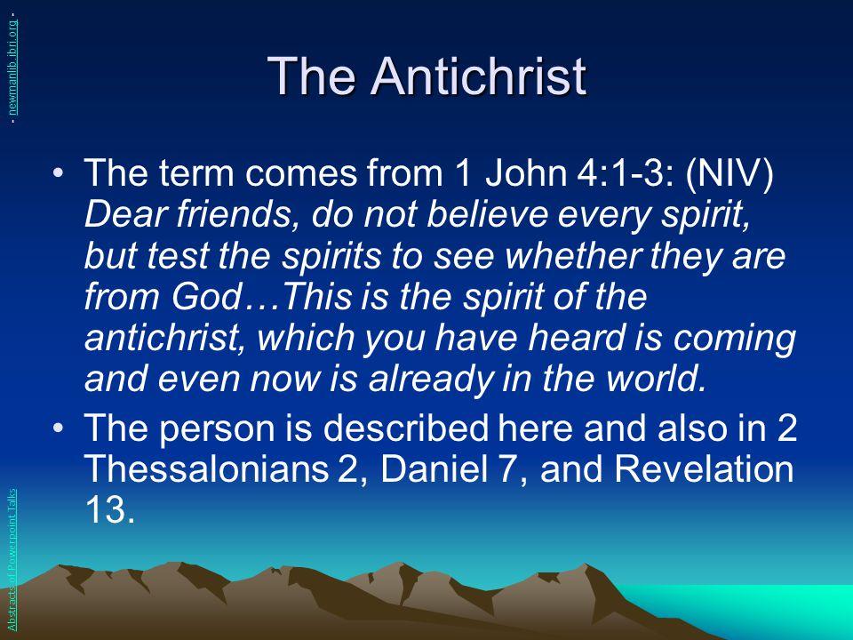 The Antichrist - newmanlib.ibri.org -