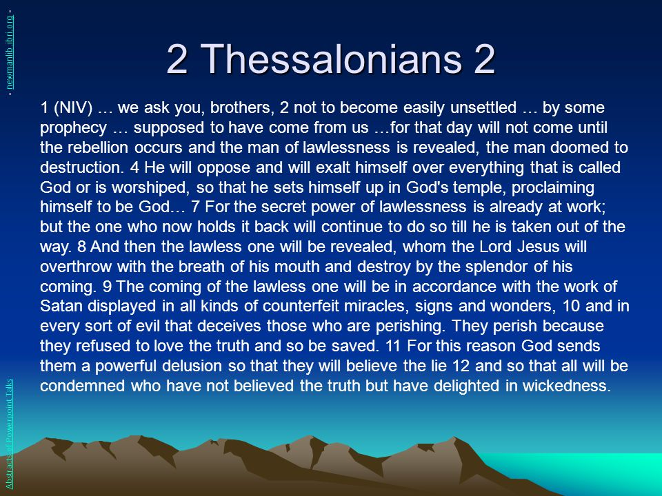 2 Thessalonians 2 - newmanlib.ibri.org -